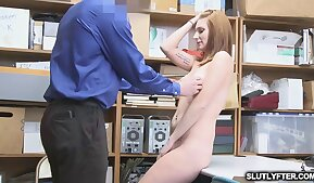 Jaycee open her legs and comply with officer mike
