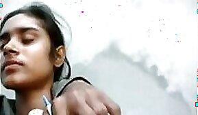 Lovely Petite Indian Girlfriend Pleasured