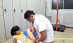 Aya Miyazaki Jav Idol Fucked In The Gym Changing Room On the Floor Cute Petite