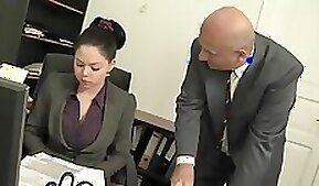 boss gets his big busty spouse cum inside