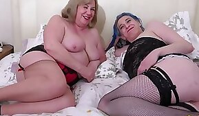 Two lesbians using sex toys for masturbation and pleasuring their holes